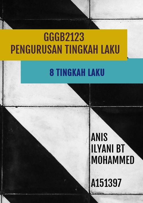 GGGB2123 PENGURUSAN TINGKAH LAKU