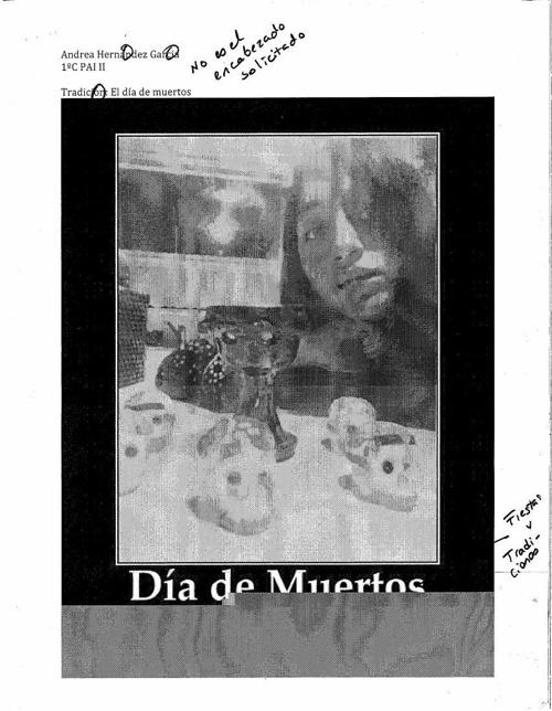 Diario de exploración día de muertos