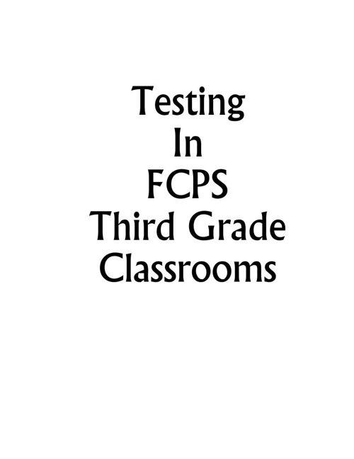 Testing Grade 3