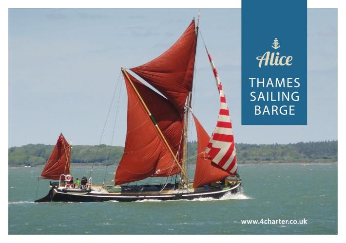 Alice Thames Sailing Barge - Brochure