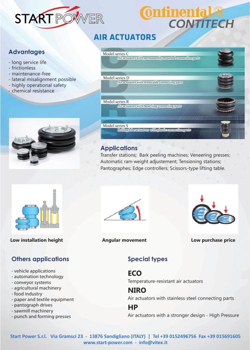 Catalogo START POWER - Air Actuator - ENG