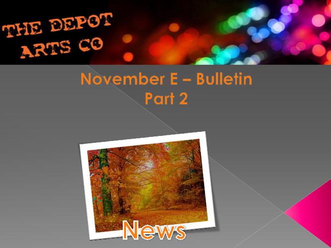 November 2 Bulletin