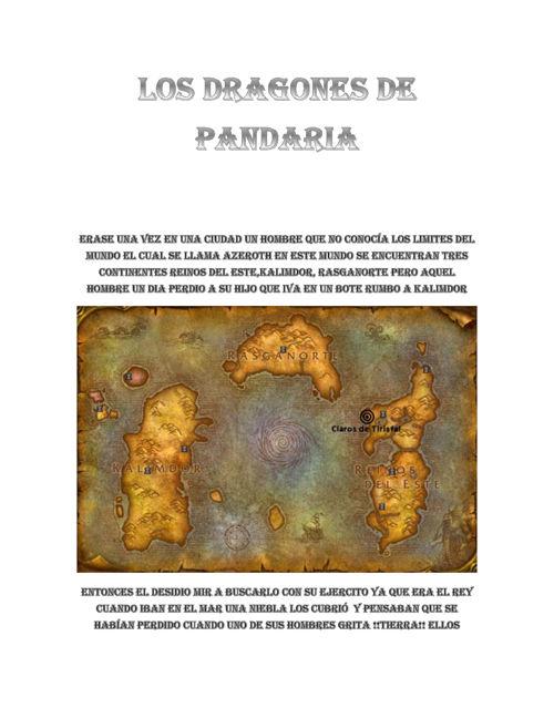 los dragones de pandaria