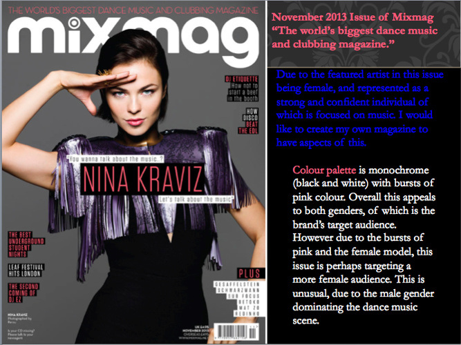Mixmag Front Cover Analysis - November 2013 Issue