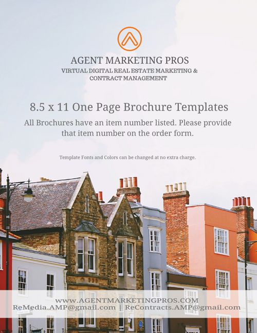 8.5 x 11 One Page Real Estate Flyers