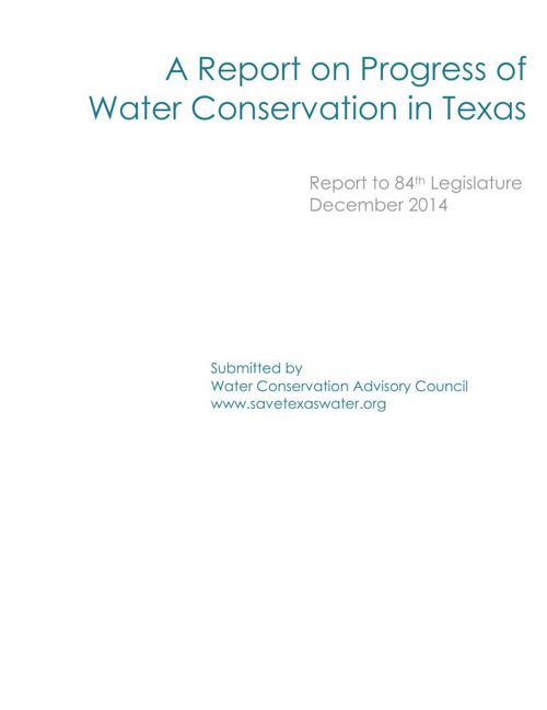 2014 Water Conservation in Texas