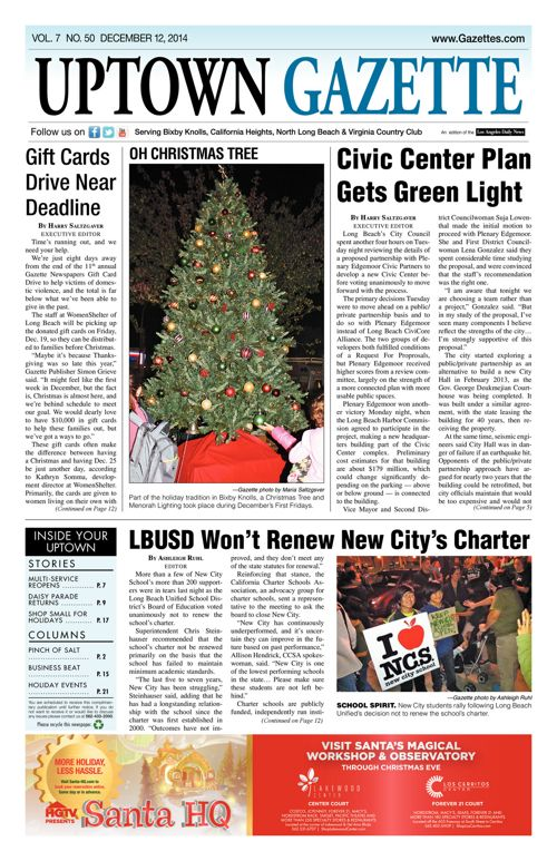 Uptown Gazette     December 12, 2014