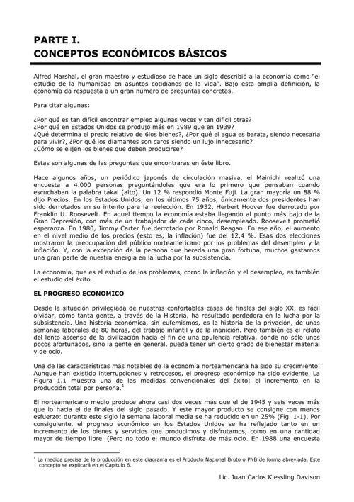 CAPITULO I. CONCEPTOS ECONÓMICOS BÁSICOS