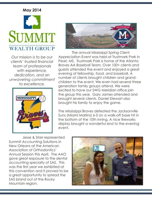 2014 May SWG Newsletter