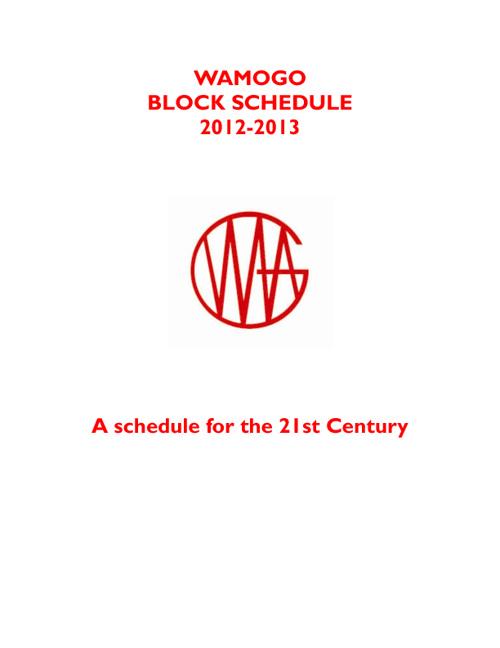 Wamogo Block Scedule v.1