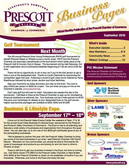 Prescott Chamber 9-16 Newsletter