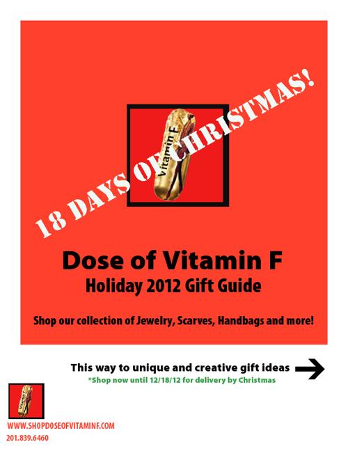Dose of Vitamin F - Holiday 2012 Catalog