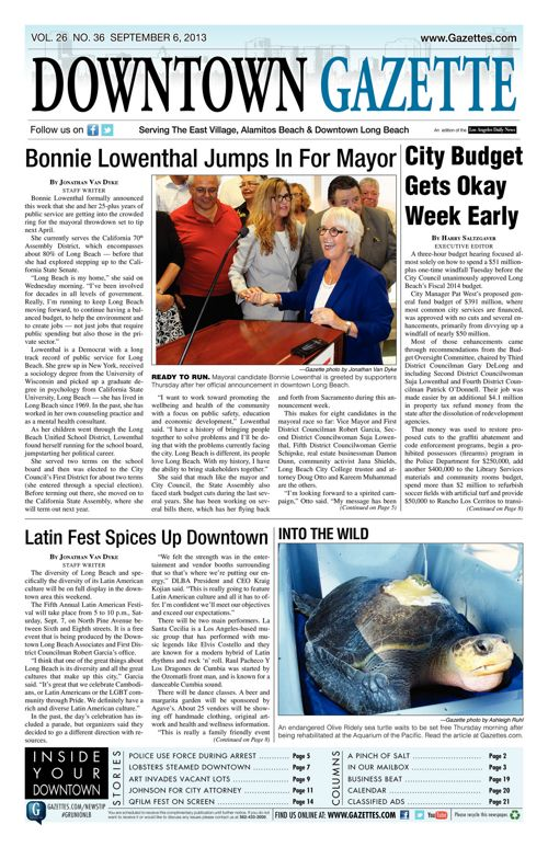 Downtown Gazette  |  September 6, 2013