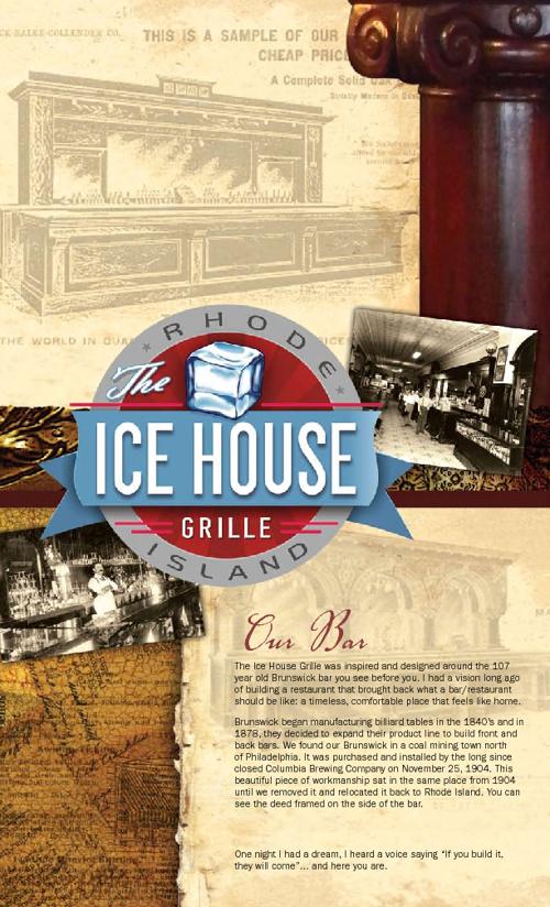 IceHouse Menu 1-16-12