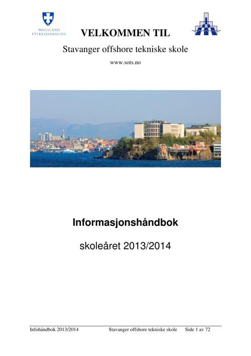 Informasjonshåndboken 2013/2014