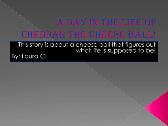 A day in the life of cheddar the cheeseball!