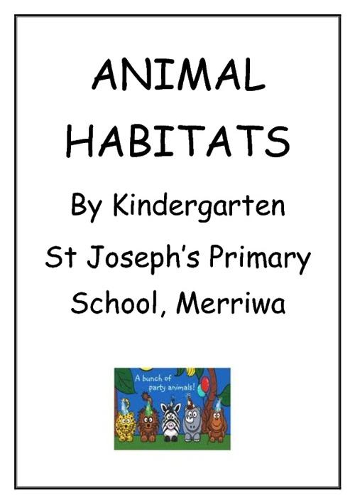 Habitats, By Kindergarten at Merriwa