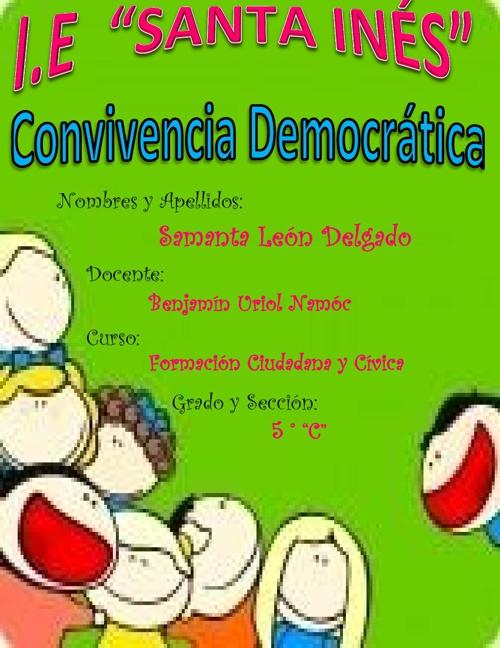 CONVIVENCIA DEMOCRÁCTICA