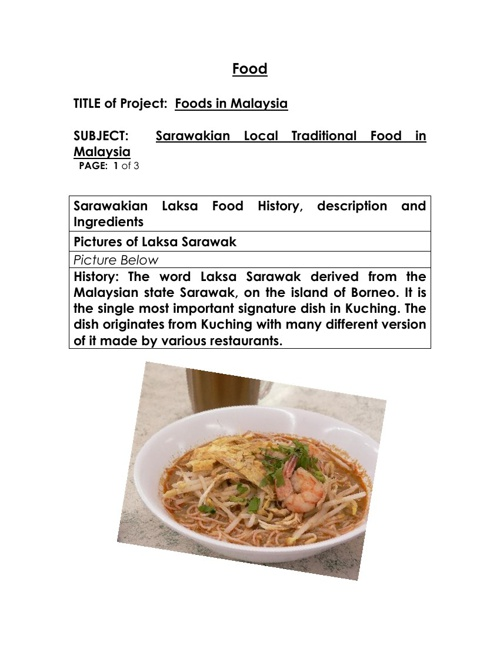 Sarawakian Local Dish