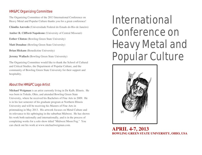 International Conference on Heavy Metal and Popular Culture