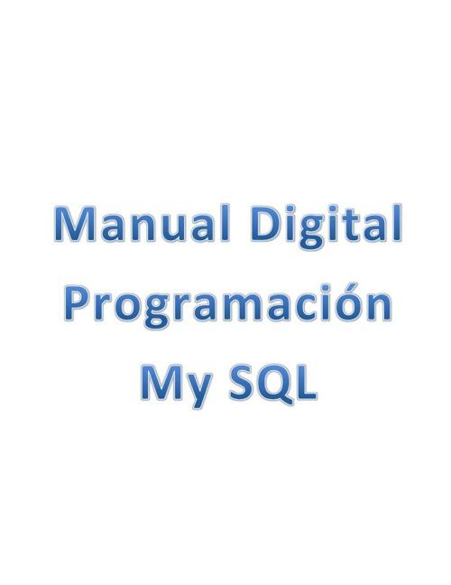 Manual My SQL