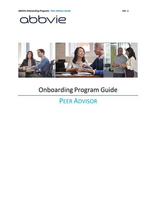 Onboarding Guide for Peer Advisor