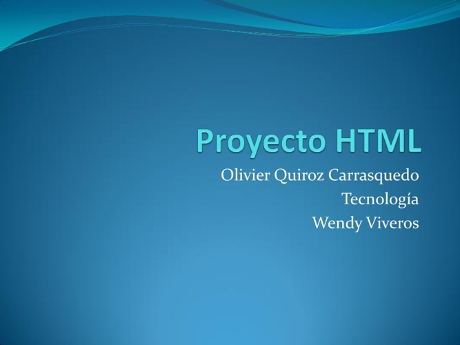 Proyecto HTML olivier