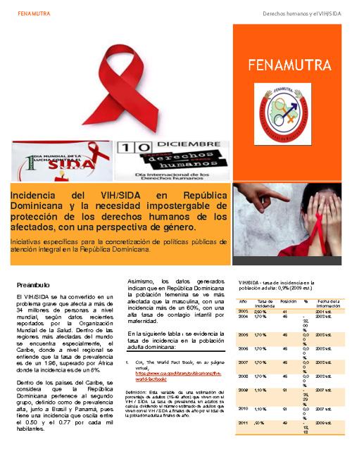 FENAMUTRA - VIH/SIDA y derechos humanos