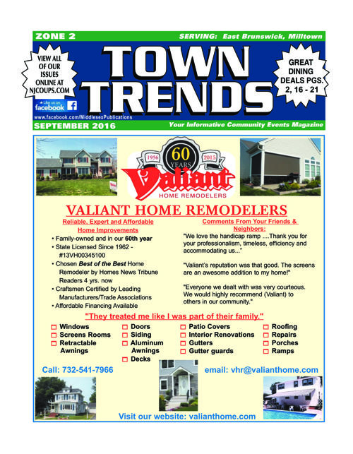 Town Trends zone 2 - Sept. 2016