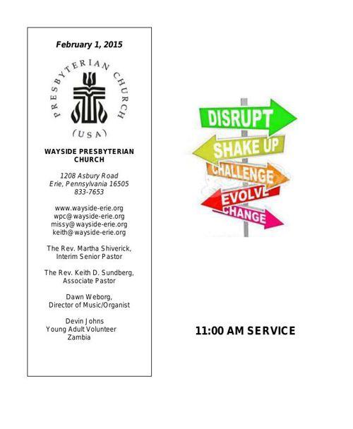 2-1-15 11AM Worship