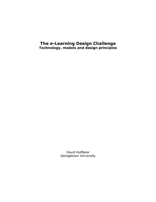 eLearning Design Challenges