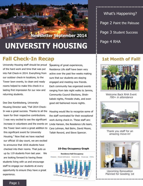 September Staff Newsletter