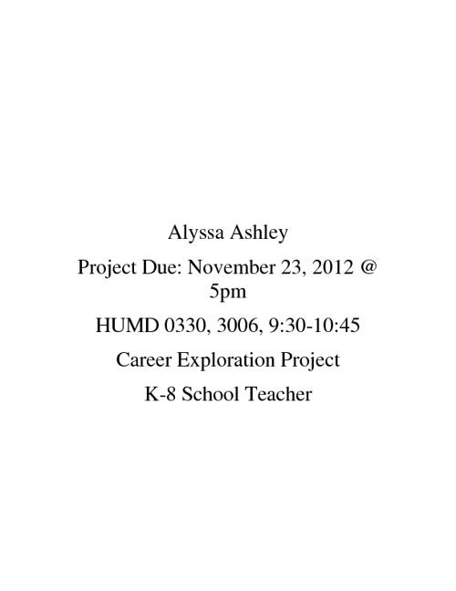 Alyssa Ashley, Career Project