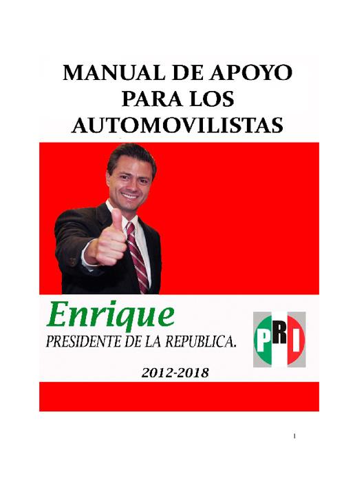 Manual de Apoyo para los Automovilistas-Enrique Peña Nieto 2012