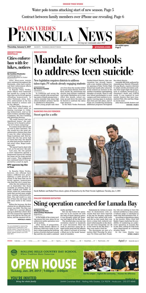Peninsula News   January 5, 2017