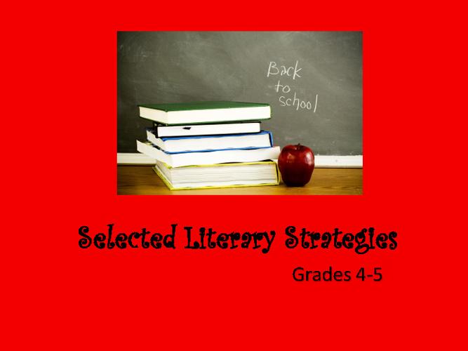 Selected Literary Strategies