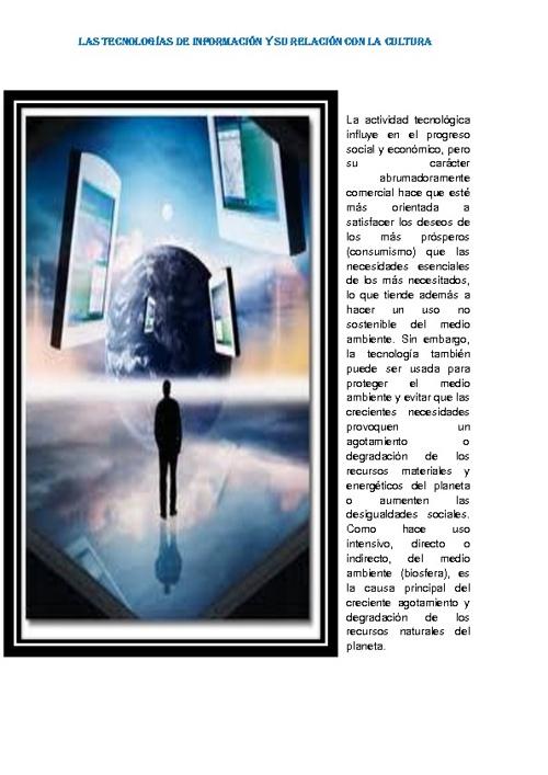 tecnologias de informacion y la cultura