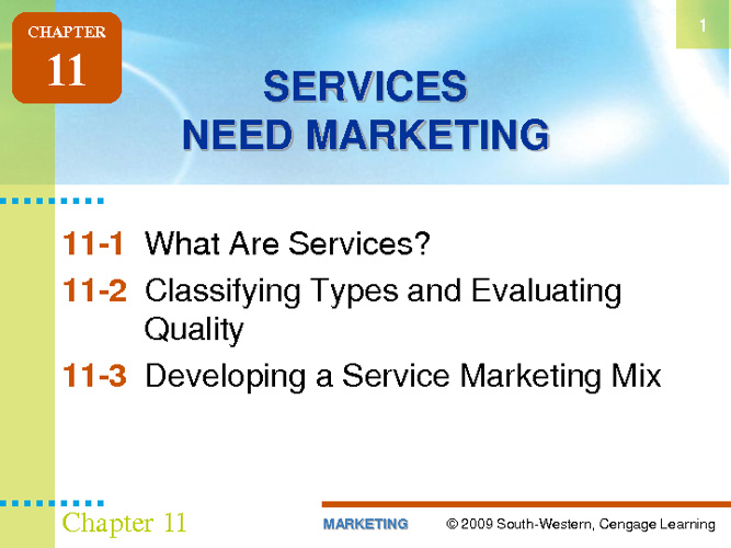 Services and Marketing