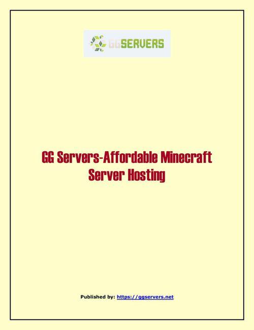 GG Servers-Affordable Minecraft Server Hosting