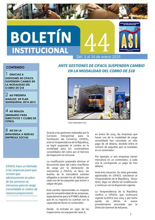 Boletín 44 ASI