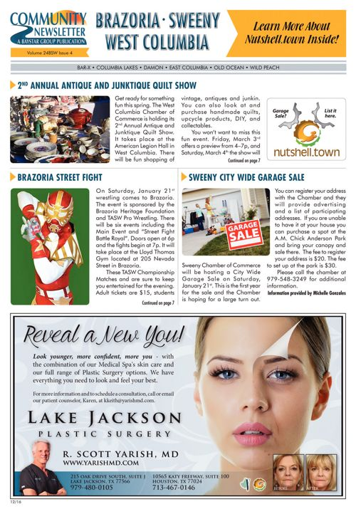 Brazoria-Sweeny-West Columbia Community News Volume 24 Issue 4