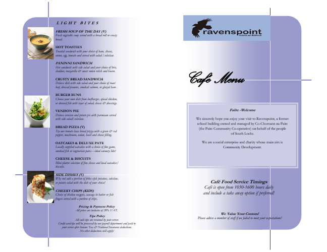New Ravenspoint Menus