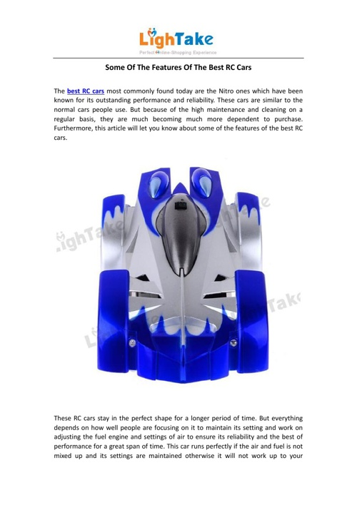 Some Of The Features Of The Best RC Cars