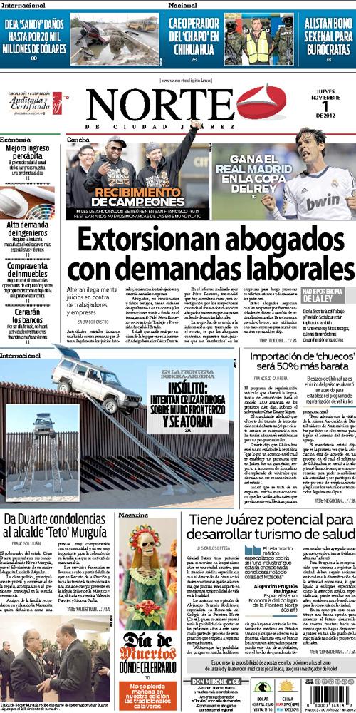 Norte Digital, noviembre 1 de 2012