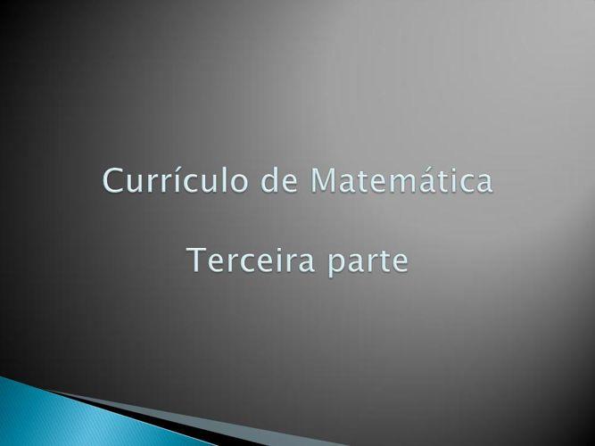 Currículo de Matemática CC