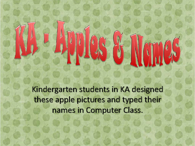 KA Apple Names