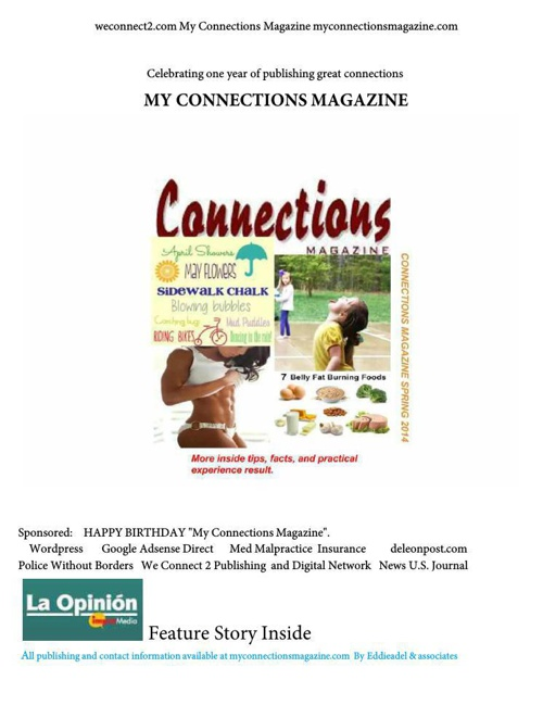 My Connections Magazine Spring 14 Happy Birthday