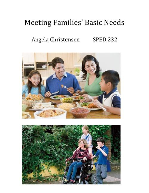 Meeting Families' Basic Needs