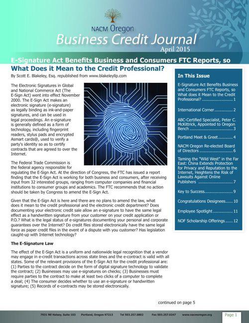 April 2015 Business Credit Journal