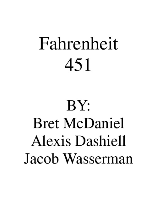 Fahrenheit 451 Uncommon Commonplace Book